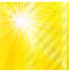 Abstract yellow brighy summer background vector image