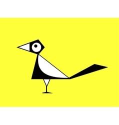 Cartoon magpie sign vector image vector image