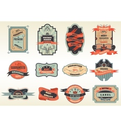Original retro labels emblems collection vector image vector image