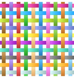 Seamles ribbons weave vector image vector image