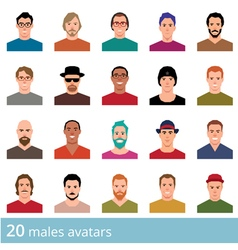 Set of avatars various male and female vector image