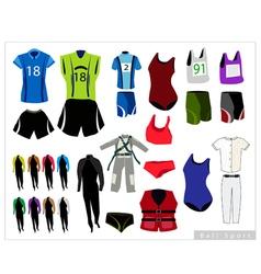 Set of Sport Waers on White Background vector image