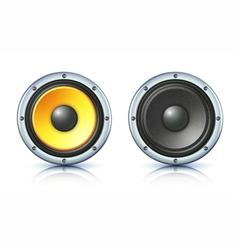 sound loud speakers vector image vector image