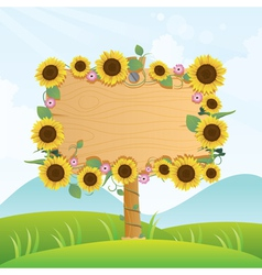 summer wood signage vector image vector image