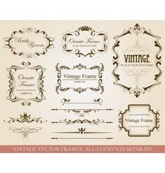 Different vintage frames vector image