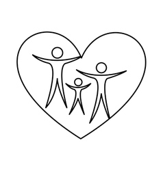 Family healthy heart isolated icon design vector image vector image