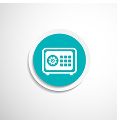 Flat icon safe lock finance bank security vector image