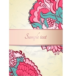Flower ornamental frame in eastern style vector image vector image