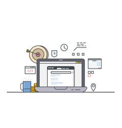 online computer targeting vector image vector image