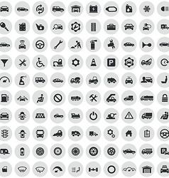100 auto icons vector image