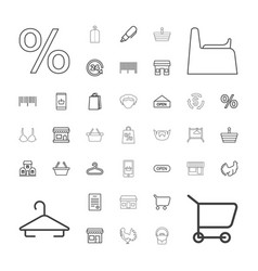37 shop icons vector