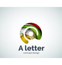 A letter concept logo template vector