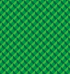 Abstract green 3d box design seamless pattern vector image