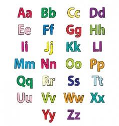 alphabet coloring vector image