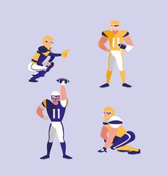 american football team character vector image