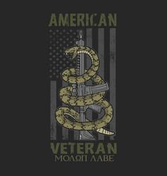 american spirit patriotic veteran vector image
