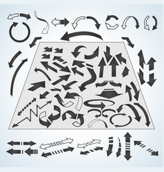 arrows icons set in isometric 3d style vector image