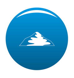 Asian mountain icon blue vector