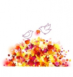 autumn birds vector image