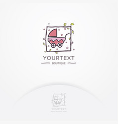 baby boutique logo vector image