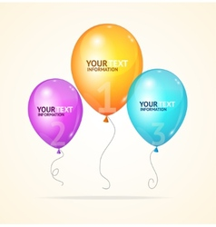 ballon Option banner vector image