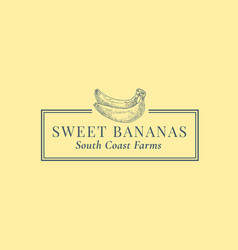 Bananas abstract sign symbol or logo vector