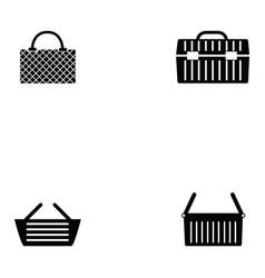 Basket icon set vector