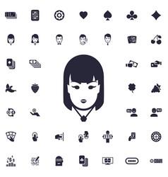 Casino girl icon vector