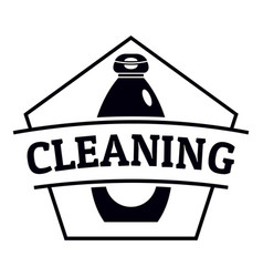 cleaning bottle logo simple black style vector image