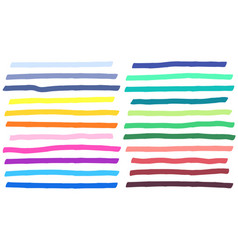 color highlight marker lines strokes colorful vector image