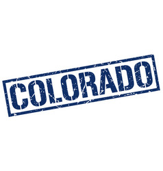 Colorado blue square stamp vector