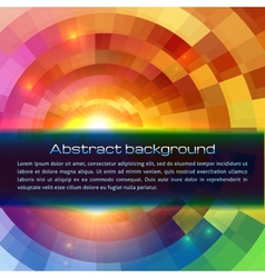 Colorful shining abstract sun background vector