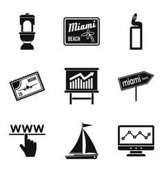 Concierge icons set simple style vector