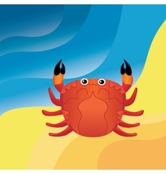 Crab on the sand vector