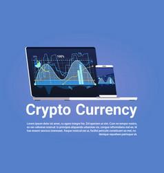 crypto currency concept bitcoin digital money vector image vector image