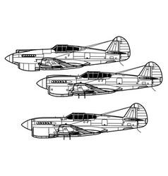 Curtiss p-40 warhawk vector