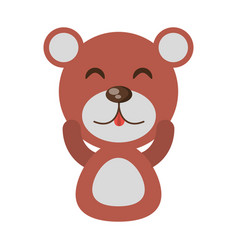 cute bear animal character funny vector image