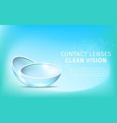 daily contact lenses on blue gradient background vector image