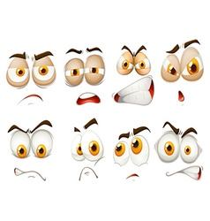 Different emotions of facial expression vector image