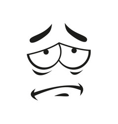 Disappointed emoticon isolated frustrated emotion vector