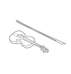 Drawing of a violin vector
