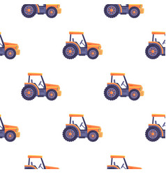 Excavator tractor vehicle seamless pattern texture vector