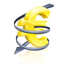 falling euro vector image