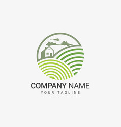 farm logo template vector image