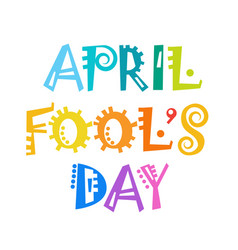 First april fool day happy holiday greeting card vector