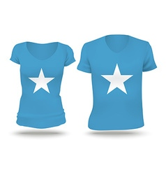 Flag shirt design of Somalia vector