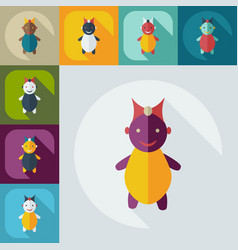Flat modern design with shadow icons children vector