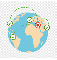 Global migration icon flat style vector