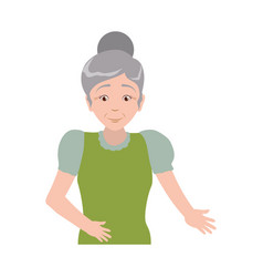Grandmother elder person female vector