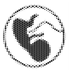 Halftone dot prenatal icon vector